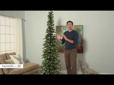 Bixley Pencil Pre-lit Christmas Tree - Product Review Video