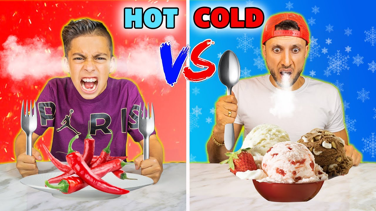HOT vs COLD Food Challenge! *EXTREME!*   The Royalty Family