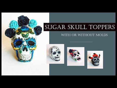 Sugar Skull Toppers (Calaveritas de Azúcar) Without/With Molds -Day of the Dead-Halloween
