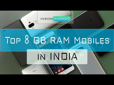 Top 8gb RAM android devices in India with price