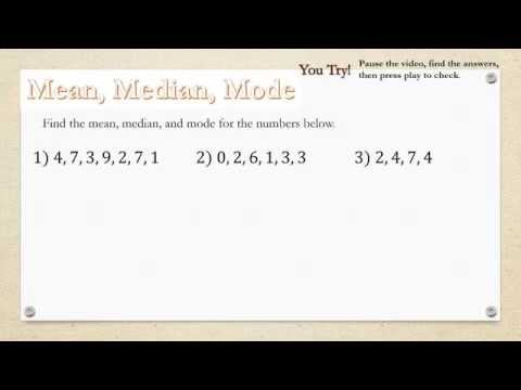 Mean, Median, and Mode + Free Worksheet