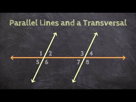 Classifying Angles Given Parallel Lines and a Transversal