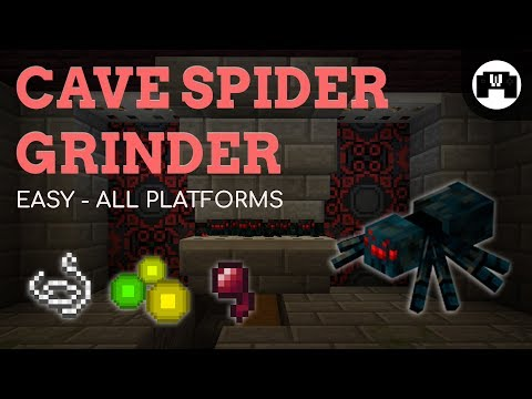 Cave Spider Grinder Tutorial | Minecraft 1.12.2 | EASY , XP & DROPS
