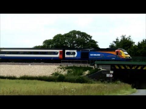 EMT HST at Barkston on Nottingham to Skegness train 21st June 2014