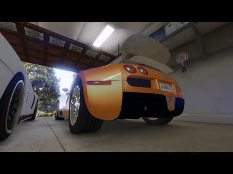 Bugatti and Nissan GTR GTA V