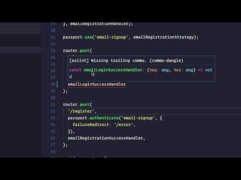Automatically fix ESLint code validation errors in Visual Studio Code