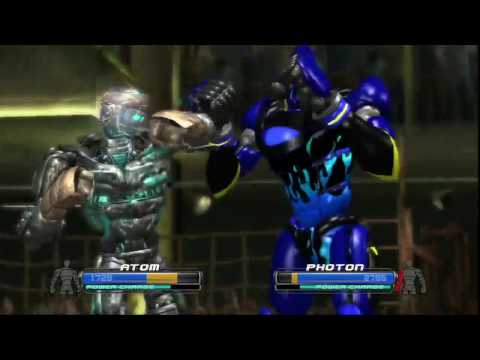 Real steel-revenge of the atom(Atom vs new robot Photon)Живая Сталь XBOX360/PS3
