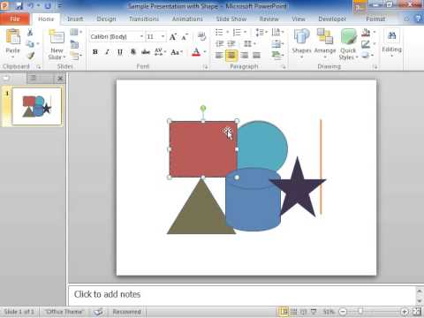 PowerPoint 2010 Use the Format Painter Button