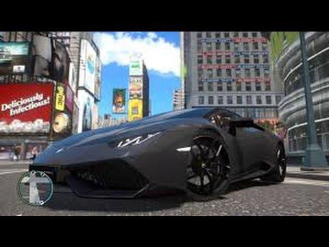 Gta IV Route 66 with Lamborghini Huracan, Ferrari, Mazda gameplay!