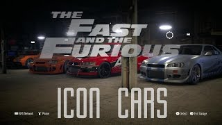 Fast And Furious - Iconic Cars - NFS 2015