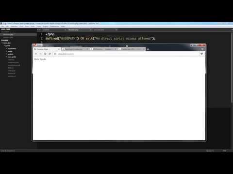 CodeIgniter 3 Routes Tutorial - URI Routing