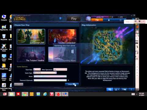 How to change text in LoL in Garena