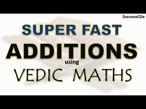 Super Fast Addition tricks using Vedic Maths - a few examples