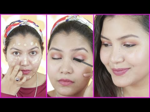 मेकअप कैसे करें घर पर /how to do makeup step by step for beginners in hindi