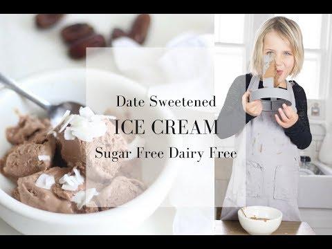 DATE SWEETENED ICE CREAM| Sugar Free Dairy Free Ice Cream Recipe