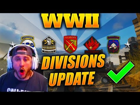 *NEW* DIVISIONS CHANGES ARE HUGE!! - LIVE REACTION TO COD WW2 DIVISION OVERHAUL (COD WWII)