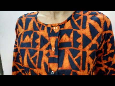 How to Stitch Button Patti | How to Make Placket | Stitch Princess Cut Kurti / Top