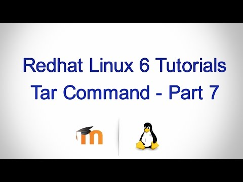 Tar command in Linux - Part 7 (Extract a tar.gz file)