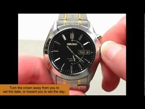 Instructions: How to Set the Day and Date of a Watch