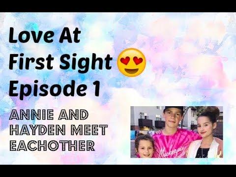 Love At Fist Sight 😍 Episode 1: Hayden and Annie Meet Eachother
