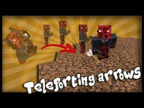 Minecraft: How to make working teleportation arrows