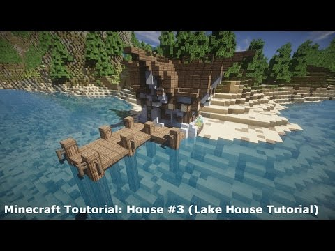 Minecraft Tutorial: House #4 (Lake House Tutorial)