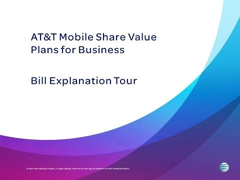 AT&T Mobile Share for Business: Billing Overview