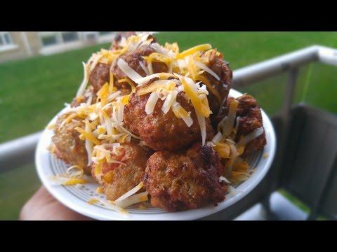 Delicious Seasoned Stuffed Deep Fried Cheesy Chicken Meatball's