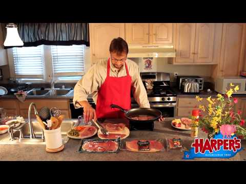 Cooking Country Ham in a Skillet with Cola