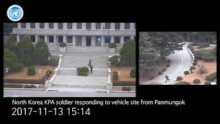 CCTV footage of North Korean soldier