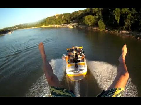 Crazy Fun Bridge Ropeswing From Moving Boat With GoPro!!