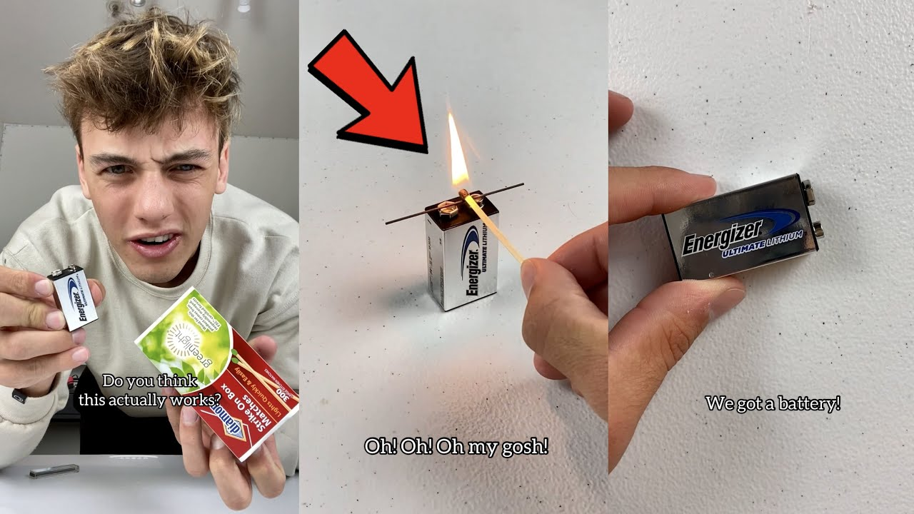 This battery trick will have you SHOCKED!! 😳 - #Shorts