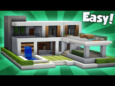 Minecraft: How to Build a Modern House Tutorial (#8) 2018