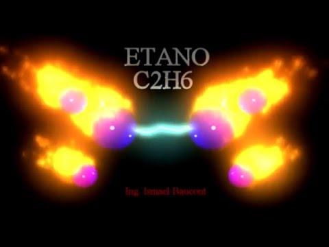 Ethane: 3D molecule Hydrocarbon