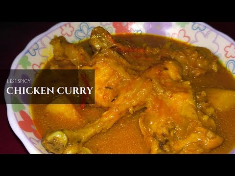How To Make Less Spicy Chicken Curry at Home || Healthy & Tasty Recipe || By Hamlet's Cooking