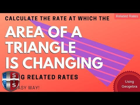 Calculus - Related Rates - Sliding Ladder - Triangle Area Model