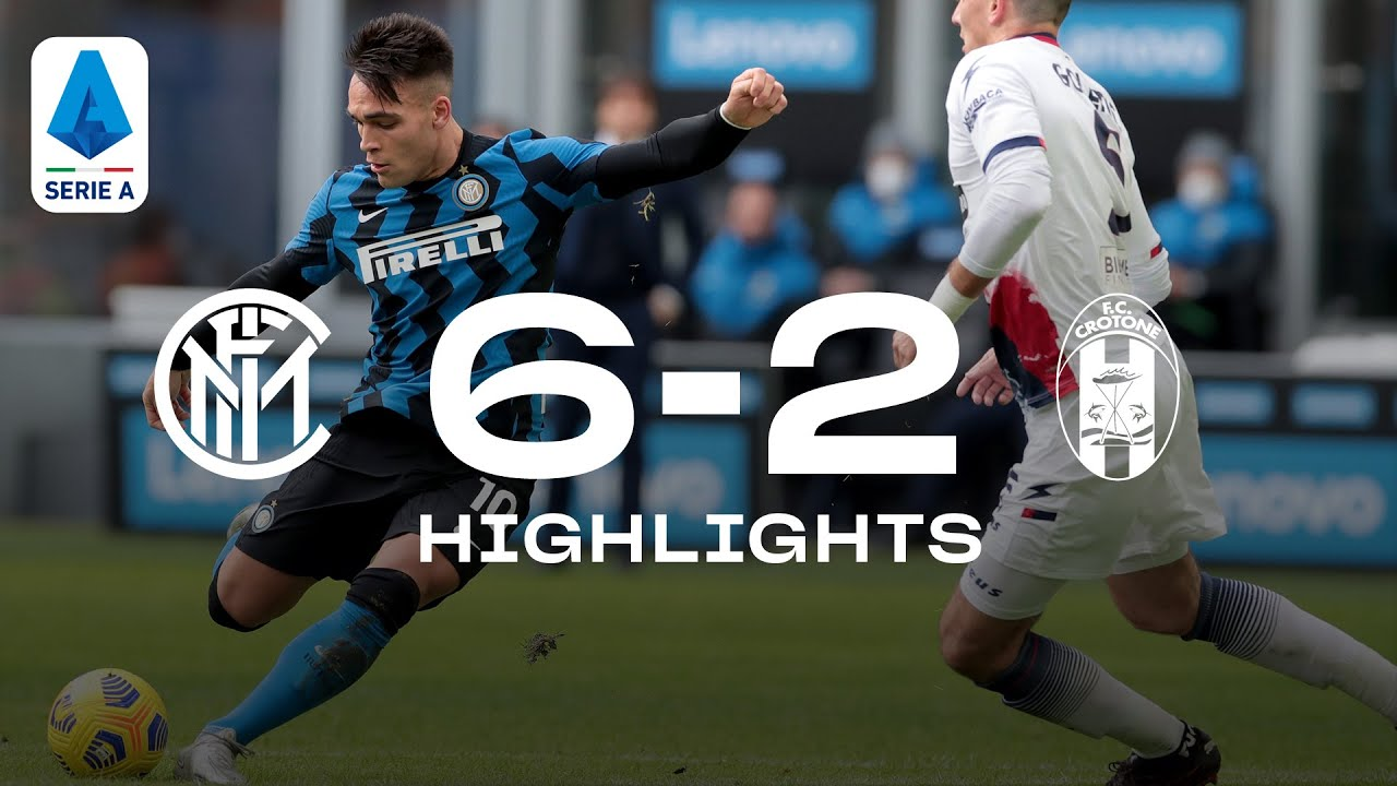INTER 6-2 CROTONE | HIGHLIGHTS | SERIE A 20/21 | Unstoppable Lautaro, we kick off 2021 in style! ⚫🔵