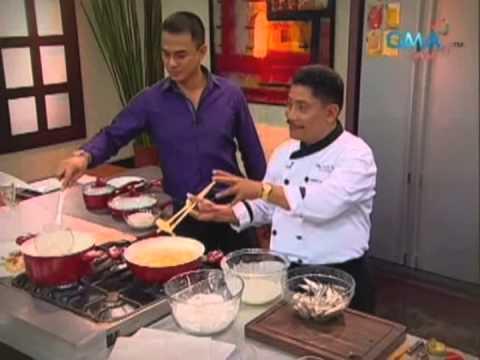 Pinoy Fish & Gabi Chips with Tuba Vinaigrette Dressing