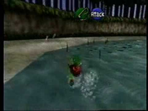 Ocarina of Time Hylian Loach with Young Link and no sinking lure