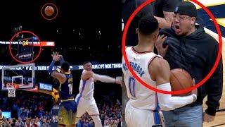 Harris Game Winner   Shot Over Westbrook   Fan Wants to Fight Westbrook (Random Moments Week 6)