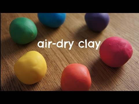 How to Make Rainbow Air- Dry Clay - Cold Porcelain Recipe