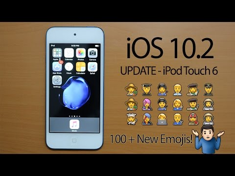iPod Touch 6th Gen - iOS 10.2 Update! | how to update & review | NEW emojis!