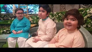 Cute Umer shah Ahmad Shah And Abubakar behind the Scenes Shan e Ramzaan 2021 Roza Khusai