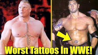 10 Wrestlers With The WORST Tattoos In WWE!