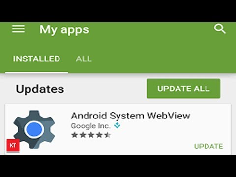 How I enabled and updated android system web view