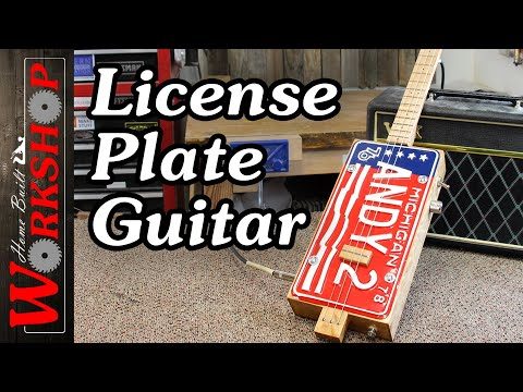 3 String License Plate Guitar
