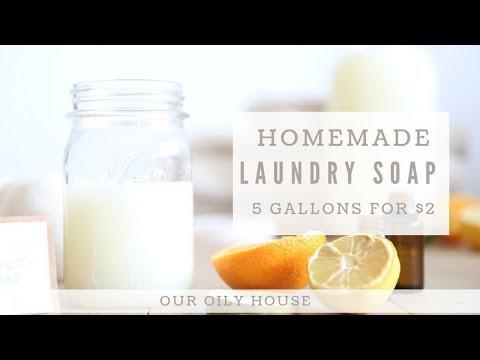 Homemade Laundry Soap using Essential Oils