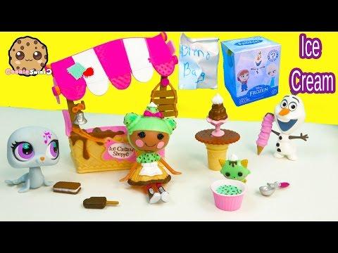 Lalaloopsy Scoops Serves Ice Cream Doll Playset + Disney Frozen Mystery Mini Blind Bag Cookieswirlc