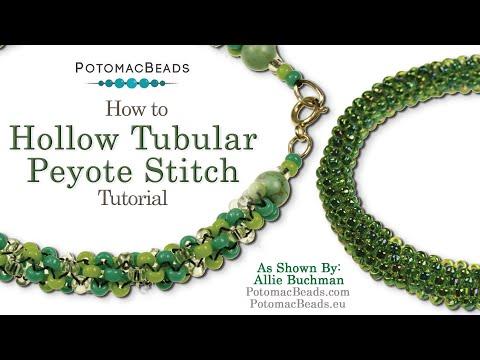 How to Make Hollow or Tubular Peyote Stitch (Seed Beading 318)