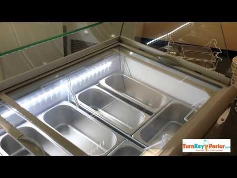 Gelato Ice Cream and Italian Ice Freezer TKPGEL 10